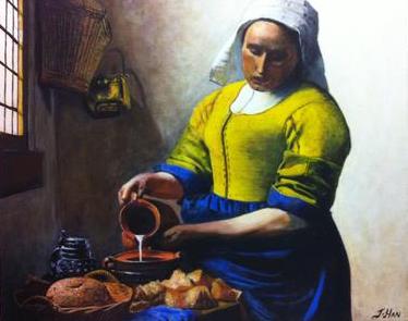 Johannes Vermeer's The Milkmail - my copy