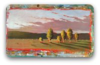 landscape painting - adding intermediate colours