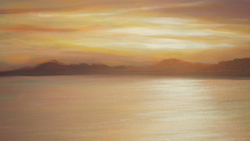 learn how to paint this gorgeous tropical sunset
