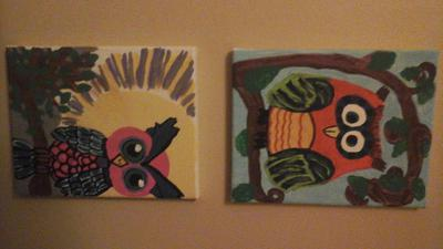 Whimsical Owls - a lil off center in some places (on purpose )